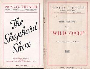 Firth Shephard Show Wild Oats 2x Princes Theatre Programme s