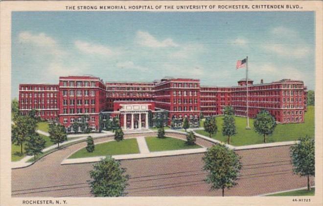 New York Rochester Strong Memorial Hospital University Of Rochester 1938 Curt...