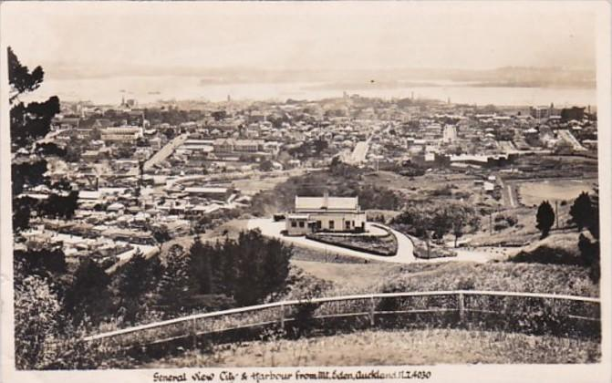 New Zealand Wellington General View Of City and Harbour Real Photo