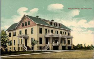 Grayling Michigan~Mercy Hospital~Nurses in Uniform on Porch~1908 Postcard