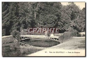 Old Postcard Chantilly Park Hameau du Pont