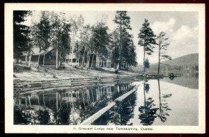 dc1040 - TEMISKAMING Quebec Postcard 1920s Crescent Lodge by Irwin