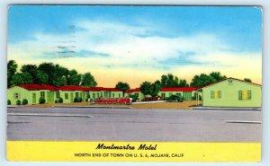 MOJAVE, CA California~MONTMARTRE MOTEL c1940s Car Kern County Roadside Postcard