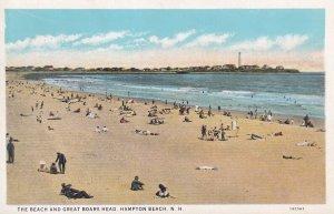 HAMPTON BEACH, New Hampshire, 1910-1930s; The Beach And Great Boars Head
