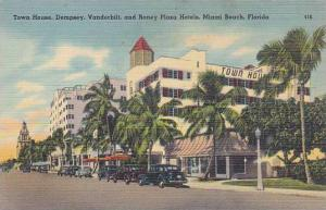 Florida Miami Beach Town House Dempsey Vanderbilt And Roney Plaza Hotels 1946