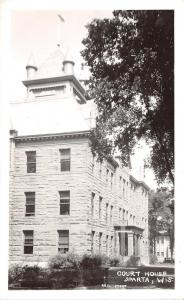 B22/ Sparta Wisconsin Wi Postcard Real Photo RPPC c40s Court House Building