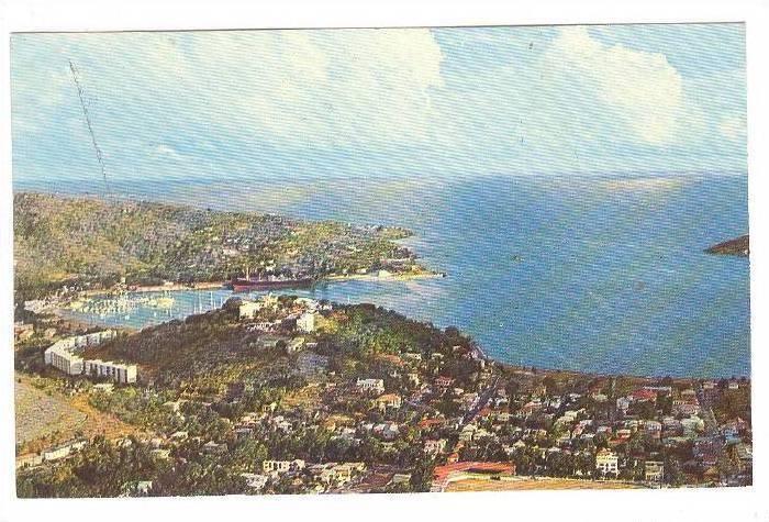 Charlotte Amalie Harbor, St. Thomas, Virgin Islands, 40-60s