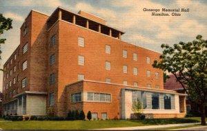 Ohio Hamilton Gonzaga Memorial Hall 1955 Curteich