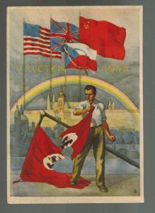 Mint Liberation Czechoslovakia 1945 By Allies Defeat Postcard WW2