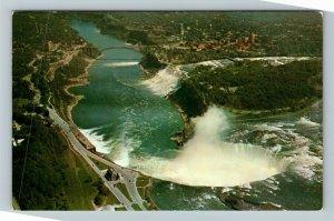 Niagara Falls ON-Ontario Canada, Aerial View, Chrome Postcard