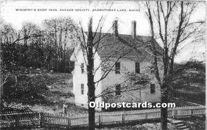Old Vintage Shaker Post Card Ministry's Shop 1839,  Society Sabbathday L...