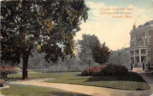 Toledo Ohio 1910 Postcard Corner Ashland and Collingwood Avenue