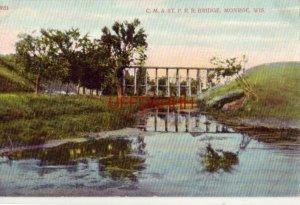 C. M. & ST. P. R.R. BRIDGE, MONROE, WI