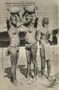 CPA AK Senegal Ethnic Nude Fortier - 1105. Jeunes Malinkées (70859)