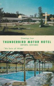 Swimming Pool, Thunderbird Motor Hotel, Ontario, Canada, 40-60s