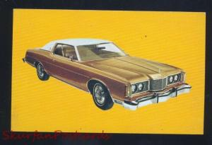 1974 FORD LTD BROUGHAM VINTAGE CAR DEALER ADVERTISING POSTCARD '74