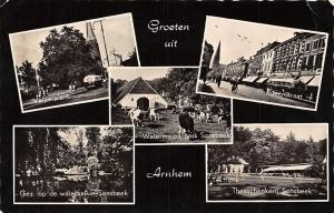 Netherlands Groeten uit Arnhem Velperplein Steenstraat Sonsbeek Bus Bik 1959