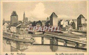 Postcard Old Strasbourg Les Vieilles Tours to Covered Bridges