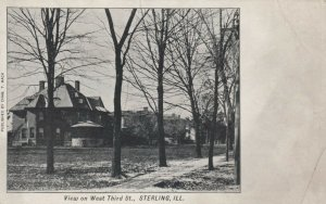 STERLING , Illinois, 1901-07 ; View of homes on West Third Street