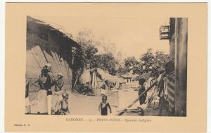 Benin; Dahomey, No 39, Porto Novo, A Native Quarter PPC, By ER, Unused, c 1920's
