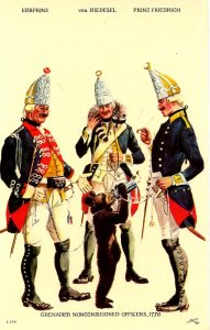 Brunswick Regiment - Grenadier Noncommissioned Officers, 1776