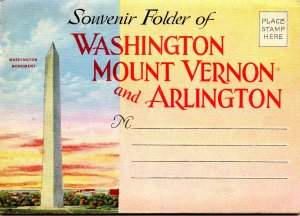 Folder - Washington, DC; Mt Vernon & Arlington, VA     27 views + narrative
