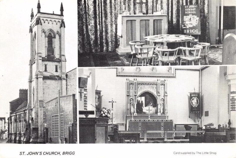 Postcard BRIGG St. John's Church, North Lincolnshire #B