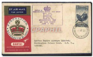 Letter Qantas Papua & New Guinea June 2, 1953