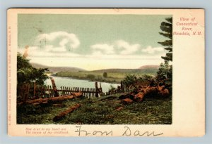 Hinsdale NH-New Hampshire, View Of Connecticut River, Vintage Postcard