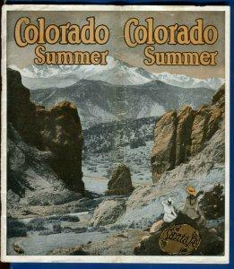 Colorado Summer Santa Fe Railroad travel brochure May 1934