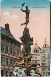 Belgium Antwerpen Anvers statue Brabo 01.28