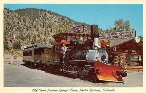 Old Time Narrow Gauge Train, Idaho Springs, CO Railroad c1960s Vintage Postcard