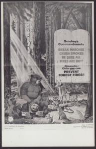 Smokey The Bear Postcard