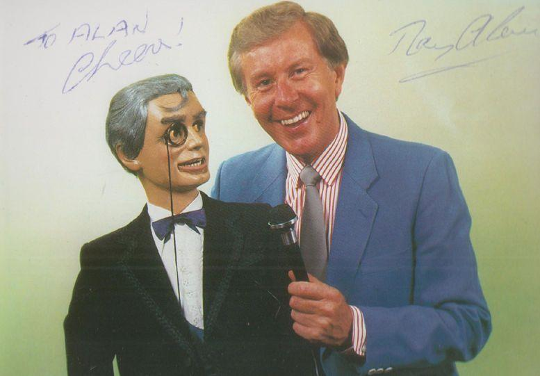 Ray Alan & Lord Charles Television ITV Ventriloquist Vintage Hand Signed Photo