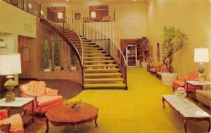 Memphis Tennessee~East Ramada Inn~Lobby Interior~1970s Postcard