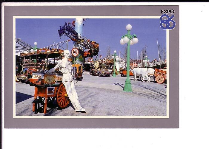 Land Plaza Mannequin, Oxen, Expo 86 Vancouver, British Columbia,