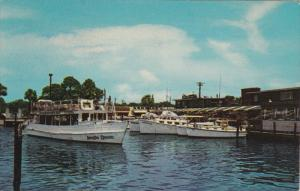 Sightseeing Boat, Yacht Basin, PANAMA CITY, Florida, 40-60's