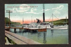 ALTON BAY NEW HAMPSHIRE NH Steamer Steam Ship Postcard