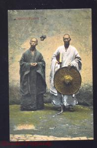 SHANHGAI CHINA CHINESE PRIESTS RELIGIOUS PRIEST ANTIQUE VINTAGE POSTCARD