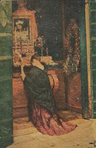Art Prayer to Mary by Bompard postcard