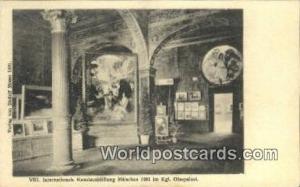 Munchen Germany, Deutschland Postcard Internationale Kunstausstellung  Intern...
