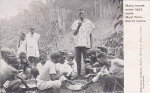 Many Hands Make Light Work, Meal Time, Sierra Leone, Africa, 1910-1920s