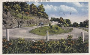 NORTH LITTLE ROCK, Arkansas, PU-1937; Hair Pin Curve, Fort Roots