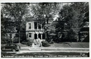 TN, Admin. Bldg., Freed-Hardeman College, Henderson, Tennessee RPPC Postcard