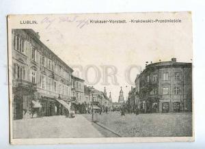 191464 POLAND LUBLIN Krakowskie Przedmiescie street Vintage