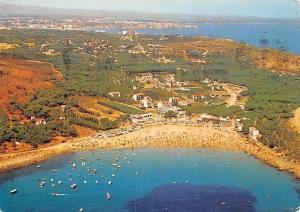 Spain Costa Brava La Escala Cala Montgo Plage Beach Air view Strand Panorama