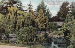 SAN FRANCISCO, California, 1900-10s; Haight Street Entrance, Golden Gate Park