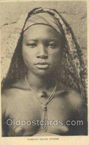 Nigeria - HaUSA Woamn African Nude writing on back writing on back