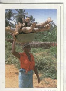 Postal:  Cote D,Ivoire: Femme au village