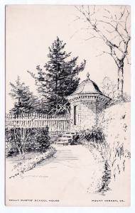 1930 Mount Vernon VA Nelly Custis School House George Washington Mt. Postcard